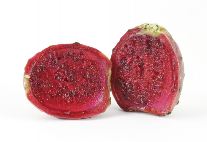Sliced cactus pear
